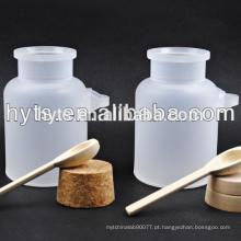 recipientes de sal de banho cosméticos pp