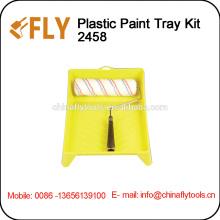 Different Colors Plastic Paint Tray Kit
