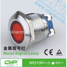 CMP metal stainless steel anti-vandal IP67 19mm dual led indicator light