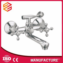Polished Ceramic cartridge wall-mounted double handle shower mixer mixer hot cold water shower