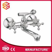 Полированный керамический картридж настенный двойной ручкой смеситель для душа смеситель горячей и холодной воды душ