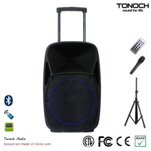15 Inches PA Outdoor Speaker Box with Blue LED Light