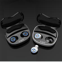 Caja de carga del color creativo Bluetooth calificó el logotipo de encargo de los auriculares de botón inalámbricos