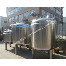 Three Layers Jacketed Stainless Steel Tank with Agitator
