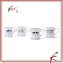 Beliebte Keramik 5 Zoll Schnurrbart Becher für zu Hause