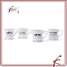 Popular de cerámica de 5 pulgadas bigote taza para el hogar