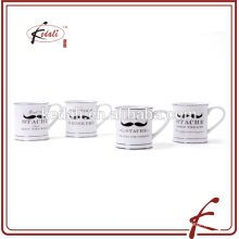 popular ceramic 5 inch moustache mug for home