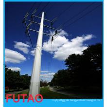 132kv230kv Galvanisiertes elektrisches Energieübertragung-Stahlpole