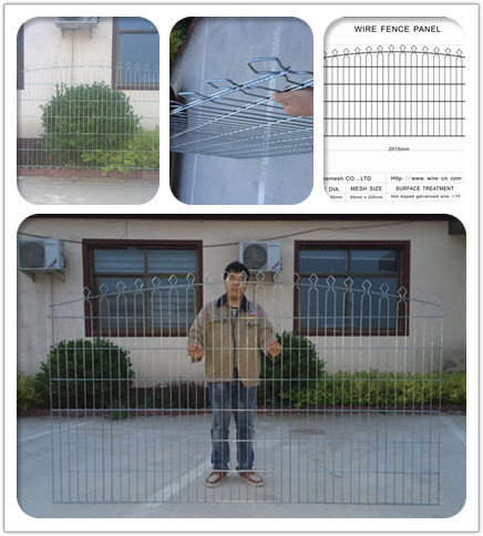 double wire decorative fence panel