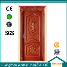 Marco de madera sólida de la puerta del panel de madera para la puerta interior