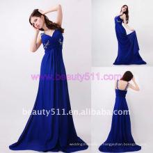 Astergarden реальные фото V шеи платье пляж шифон синий вечернее платье AS151