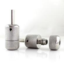 30mm Novo aço inoxidável tatuagem metralhadora auto-bloqueio grip tubos de tatuagem de fornecimento de prata