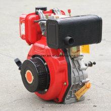 8.5HP monocilíndrico, vértice, 4 tiempos, motor diesel enfriado por aire