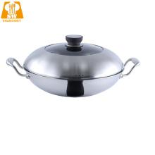 Сковорода Wok с антипригарным покрытием из нержавеющей стали 30 см
