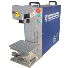 Máquina de marcado láser de fibra de tamaño mini para marcado de metales
