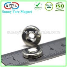 с отверстием и зенковкой неодимовый магнит-кольцо n45