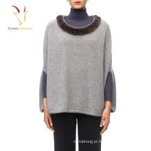 Mulheres Caxemira Fur Shawl Kashmir Wool Shawl