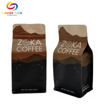 FAD Aprovado Custom Brown Paper Coffee Bags Atacado