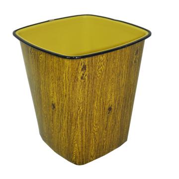 Пластмассовый деревянный дизайн Open Top Dustbin (B06-3051)