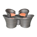 Wicker Flowery Distro Set med Glass Top