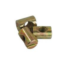 M6 M10 Yellow Zinc Plated Flat Head Slotted Barrel Nut