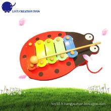 Baby Hand Knock Lovely Beetle Wooden Mini Xylophone
