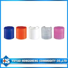 24 tampas plásticas da parte superior da aleta da venda quente de 410 para o cosmético