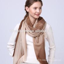 Confortable jolies femmes lady art personnalisé unique impression foulard en laine