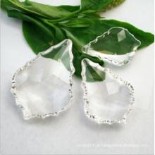 Grânulos de cristal em forma de folha de bordo para lustres
