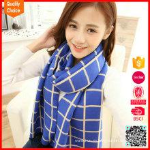 Forme la bufanda customzied al por mayor del invierno del enrejado
