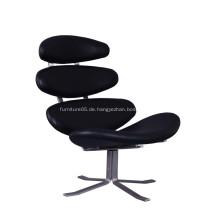 Corona Swivel Leder Lounge Stuhl