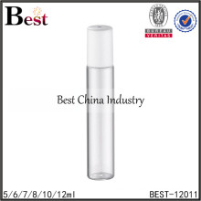 5/6/7/8/10/12ml clear deodorant roll on bottles with plastic cap,glass roll-on bottle with cap, amber tube glass bottle supplier