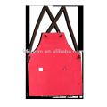 tablier en coton imperméable à bretelles croisées au dos
