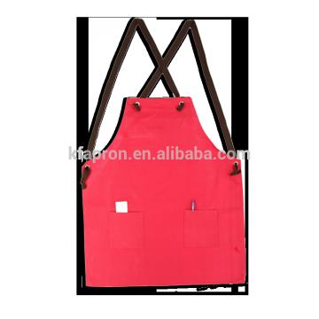 waterproof butcher cotton cross back bib apron