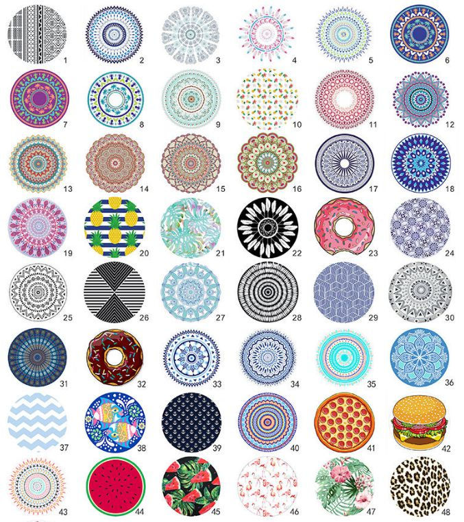 Circle Beach Towels