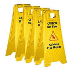 Wet floor caution board PP safety warning sign custom signs