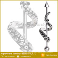 316L Surgical Steel Industrial Bar Octopus Gold Plated Industrial Barbell