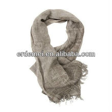 Solid color woven aztec scarf linen