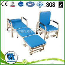 Carbon steel and plastic sprayed hospital accompany chair