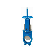 high quality manual stainless steel natural gas knife gate valve DN200 with hand wheel