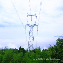 220kV Owl Type Single Circuit Power Transmission Steel Tower
