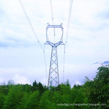 220kV Tipo Búho Transmisión de energía de un solo circuito Torre de acero