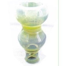 One Head Colored Glazed Small Hookah Ceramic Head Shisha Bowl