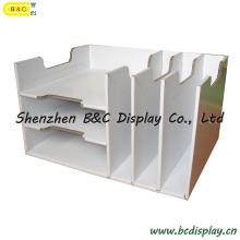 Cubbyhole de carton, casier de papier, papeterie de bureau, contre- étagère, boîte de papier (B & C-D041)