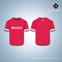 El logotipo al por mayor de encargo imprimió la camiseta de los deportes del algodón del hombre