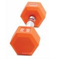 Оптовая дешевая цветная резина с покрытием из чугуна с гантелями
