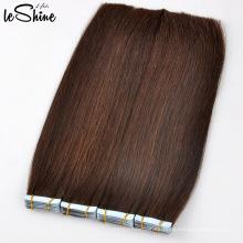 Cinta al por mayor en extensiones del pelo Natural que mira el pelo humano brasileño de la cinta del 100% de alto grado
