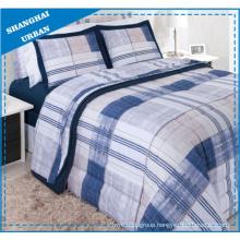 Vintage Navy Stripes Polyester Duvet Cover Bedding Set