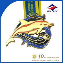 Medalha de prêmio personalizado esmalte por atacado para evento