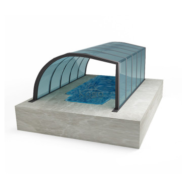 Abri de tour de natation Abri de piscine Sunshield Woodden